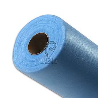 Одноразовые простыни в рулонах 0,6х100 м. плотные 25 г/м2, медицинские, для защиты поверхностей, голубые