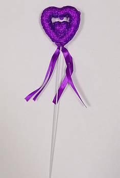 Валентинка на паличці 24 см, бузкова