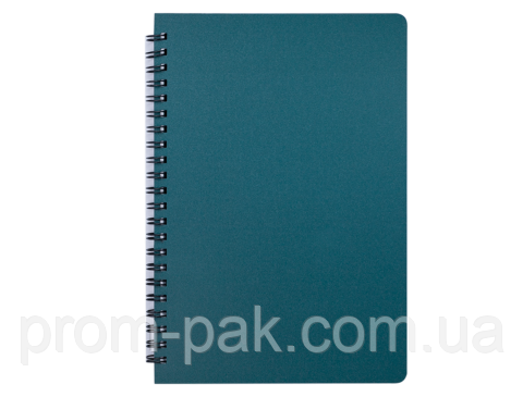 Блокнот на пружине А5,96 л,зеленый, фото 2
