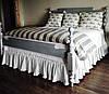 Подзор на кровать Рюши Модель 2 Белый 90Х200/30