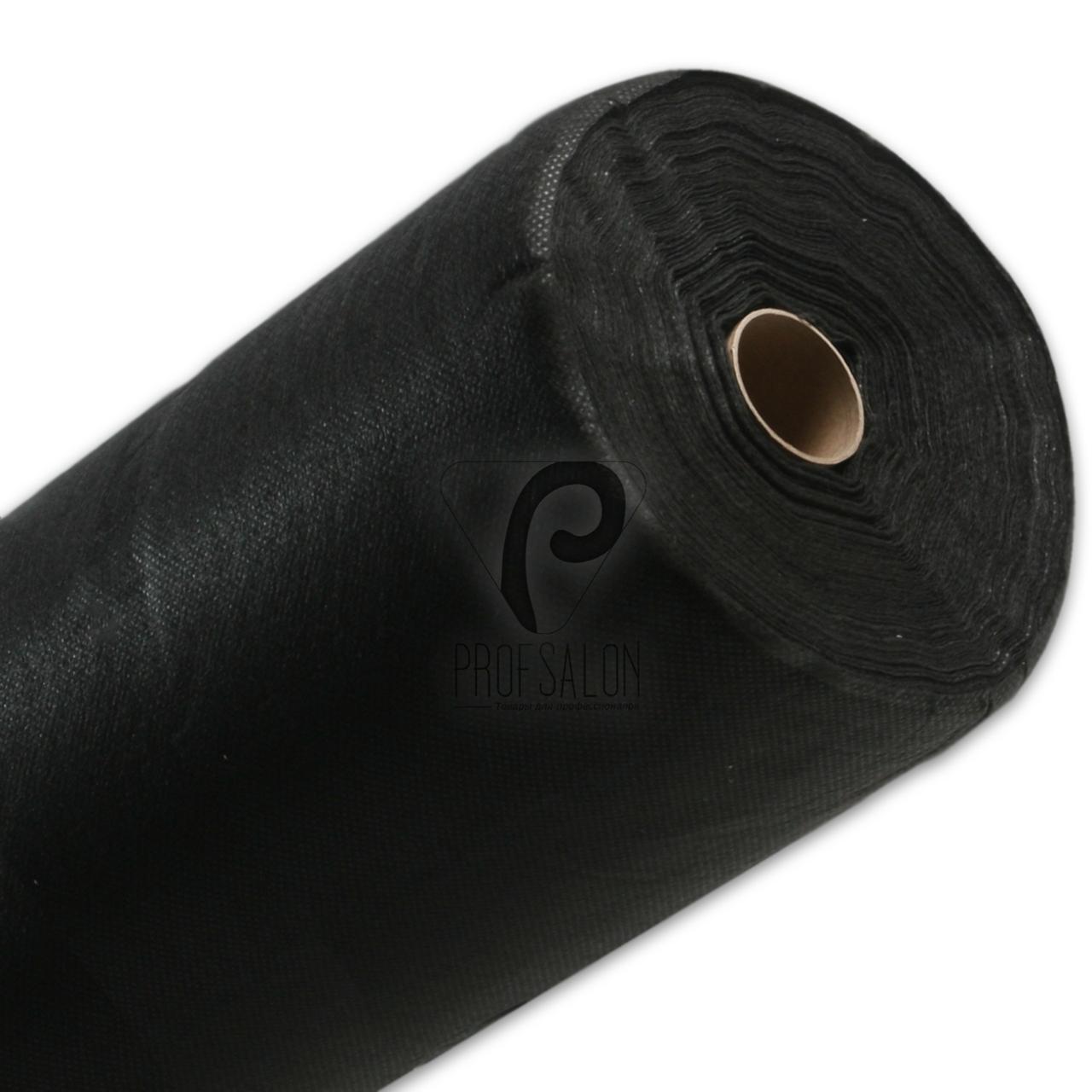 Одноразовые простыни в рулонах 0,8х100 метров 30 г/м2, медицинские, для тату салонов, Polix, Черная