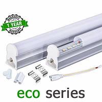 Светодиодный светильник LED Т5 интегрированный 5-6Вт  2700-3000К/4000-4500К/6000-6500К 300 мм серия ECO