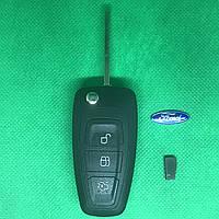 Ключ выкидной  Ford (Форд)  Mondeo , Focus 3 кнопки 433MHz чип ID4d63 лезвие HU101