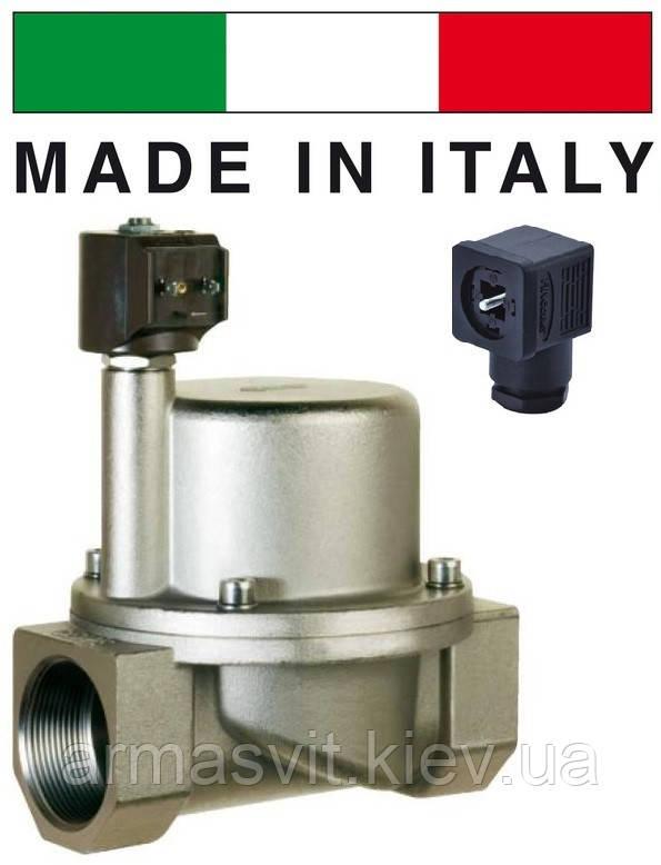 """Электромагнитный клапан для пара 3/4"""", CEME (Италия) 9015, НЗ, 180 C, 220В нормально закрытый."""