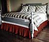 Подзор на кровать Рюши Модель 2 Винный 140Х200/30
