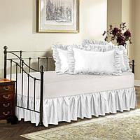 Подзор на кровать Рюши Модель 1 Белый  200*200/30