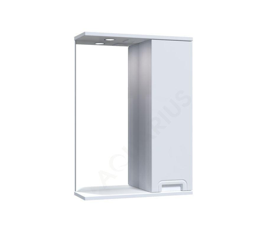 Зеркало  Аквариус SIMPLI со шкафчиком и подсветкой 50 см