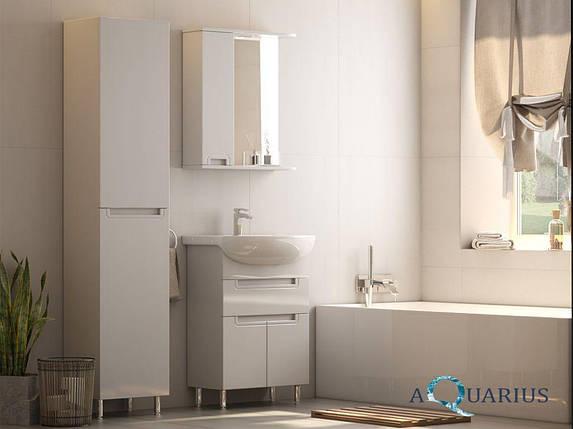 Зеркало  Аквариус SIMPLI со шкафчиком и подсветкой 55 см, фото 2