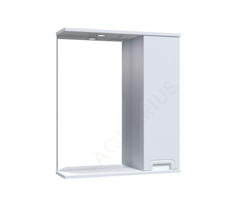 Зеркало  Аквариус SIMPLI со шкафчиком и подсветкой 60 см