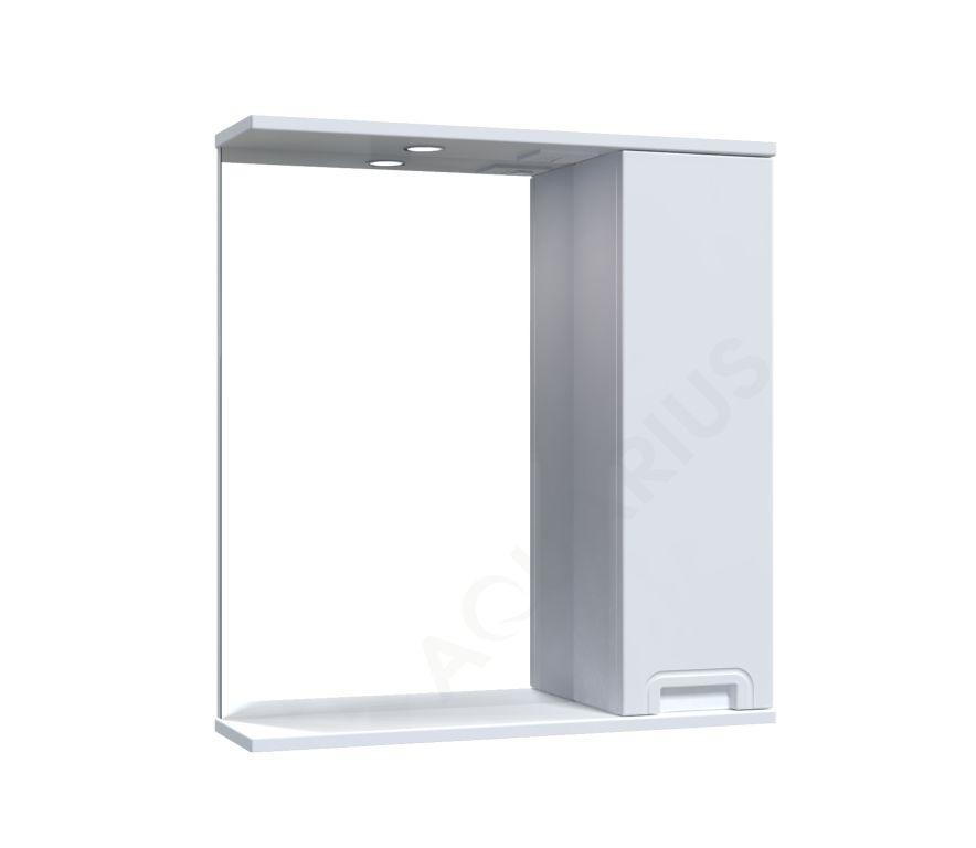 Зеркало  Аквариус SIMPLI со шкафчиком и подсветкой 65 см