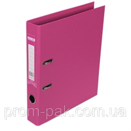 Реєстратор ELITE двост. А4, 50мм, рожевий, PP, збірний, фото 2