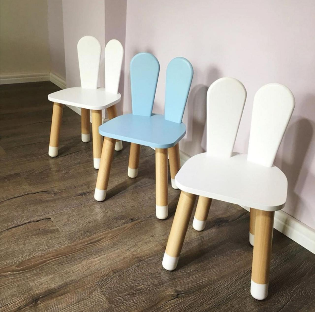 """Дитячий дерев'яний стілець """"Зайчик"""""""