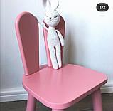 """Детский  деревянный стул """"Зайка"""", фото 3"""
