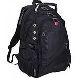 Городской рюкзак SWISS Gear Bag 8810 Black стальная ручка., фото 2