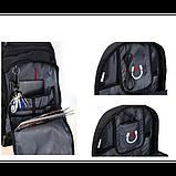 Городской рюкзак SWISS Gear Bag 8810 Black стальная ручка., фото 4