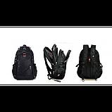 Городской рюкзак SWISS Gear Bag 8810 Black стальная ручка., фото 5