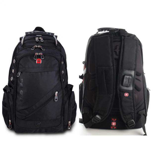 Городской рюкзак SWISS Gear Bag 8810 Black стальная ручка.