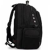 Городской рюкзак SWISS Gear Bag 8810 Black стальная ручка., фото 9