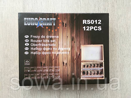 Набор фрез Euro Craft RS012 / 12 шт, фото 2