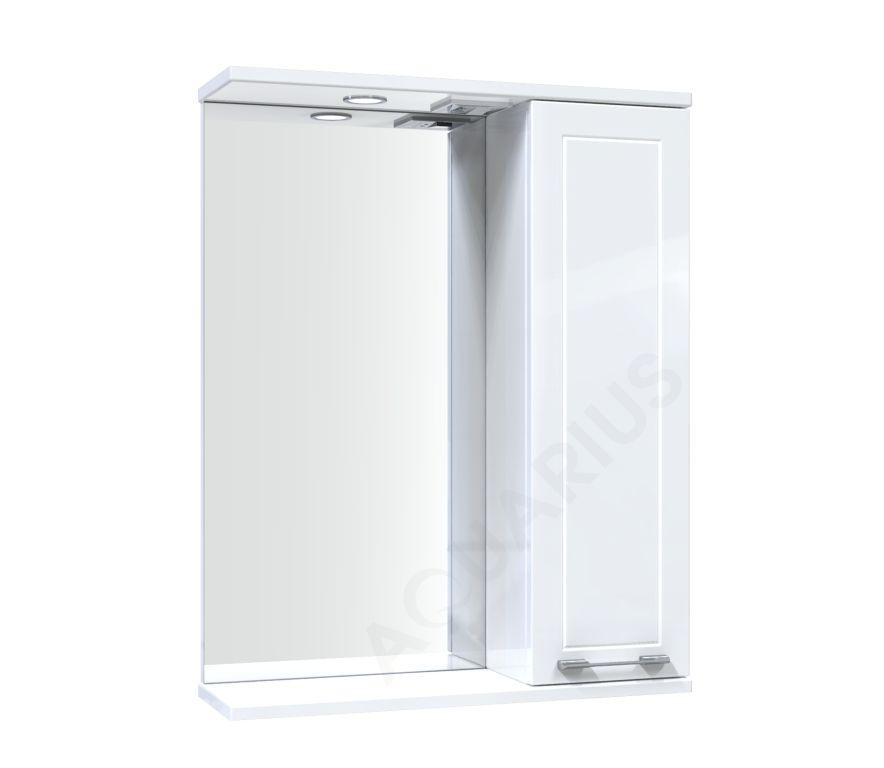 Зеркало Аквариус Elegance со шкафчиком и подсветкой 55 см