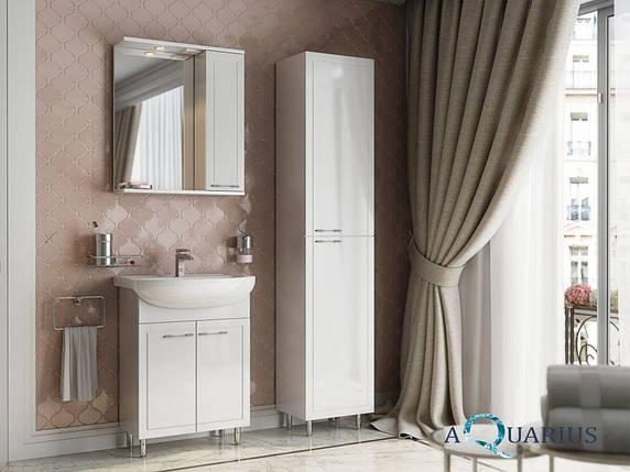 Зеркало Аквариус Elegance со шкафчиком и подсветкой 55 см, фото 2