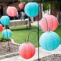 Китайский фонарик шар (25см) голубой, фото 3