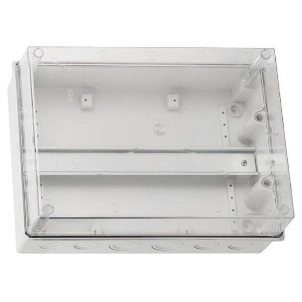 Распределительная коробка с прозрачной крышкой CARBO-BOX 303х213х125 IP55 с DIN-рейкой
