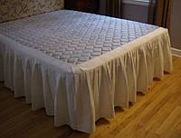 Підзор для ліжка Складки Модель 4 Білий 200*200/30