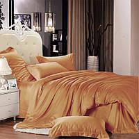 Комплект постельного белья Сатин Премиум  Медовый полуторный