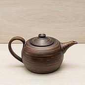 Чайник заварочный чёрный, 0,6 л, красная глина