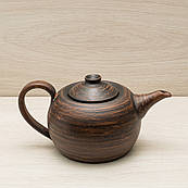 Чайник заварювальний чорний, 0,6 л, червона глина