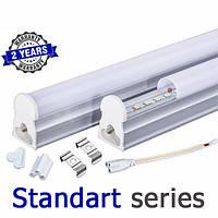 Светодиодный светильник LED Т5 интегрированный 5-6Вт 2700-3000К/4000-4500К/6000-6500К 300 мм серия STANDART