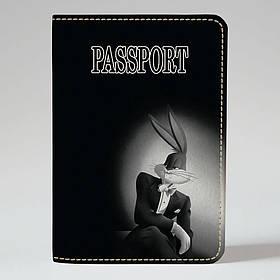 "Обкладинка на паспорт ""Бакс Банні"", Обложка для паспорта экокожа ""Бакс Банни"" 154"