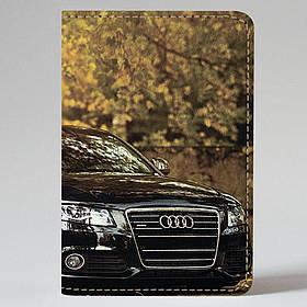 """Обкладинка на паспорт """"Audi"""", Обложка для паспорта экокожа """"Восхитительная Audi"""" 673"""