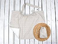 Накидка для кормления грудью в общественных местах с сумочкой чехлом, Геометрические елки, фото 1