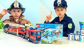 Наборы пожарного и полицейского