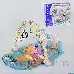 Детский игровой музыкальный коврик с пианино, 5 подвесок YL - 604