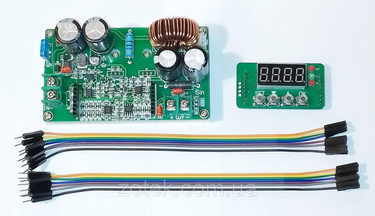DKP6008 8A DC-DC Понижающий преобразователь стабилизатор с цифровым управлением 6-65В->0-60В