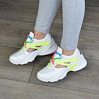 Кроссовки женские кожаные летние на спортивной подошве