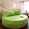 Простынь на Круглую кровать Модель 2 Салатовая 200