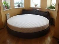 Круглая кровать. Простынь Модель 2 Белая Стильные полоски 200