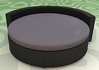 Простынь на Круглую кровать Модель 2 Графит Стильные полоски 200