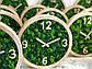 Часы настенные из дерева и Норвежского мха (25 см). Настольные часы., фото 5