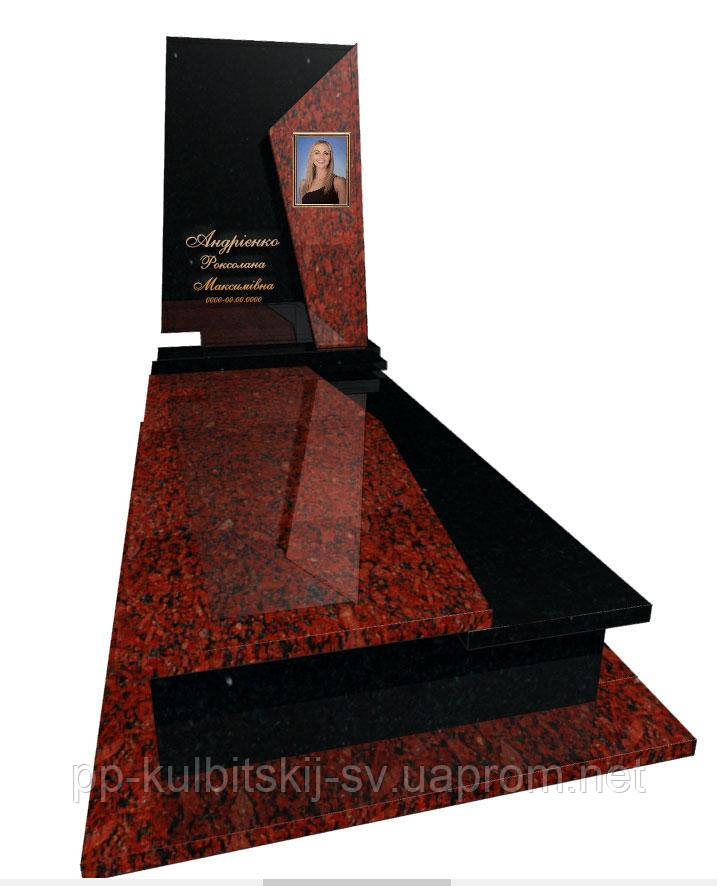 Пам'ятник з граніту Елітний одинарний Р5063