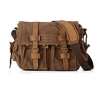 Чоловіча сумка месенджер Augur коричневого кольору, фото 1