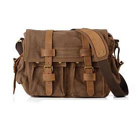 Мужская сумка мессенджер Augur коричневая