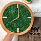 Часы настенные из дерева и Норвежского мха (25 см). Настольные часы., фото 2