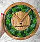 Часы настенные из дерева и Норвежского мха (25 см). Настольные часы., фото 3