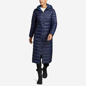 Ультра легкое пуховое пальто Eddie Bauer Woman CirrrusLite Duffle Coat Reg S