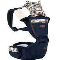 Эрго рюкзак + Хипсит для переноски детей Aiebao Animal с капюшоном 3 в 1